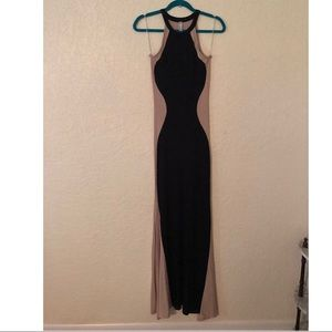 Dresses & Skirts - Figure maxi dress black and nude Sz M